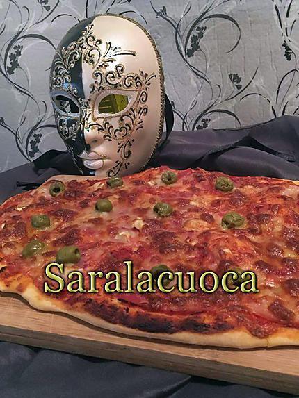 Recette de pizza p te paisse et moelleuse - Recette pate a pizza italienne epaisse ...