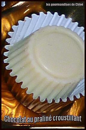 recette Chocolat au praliné croustillant