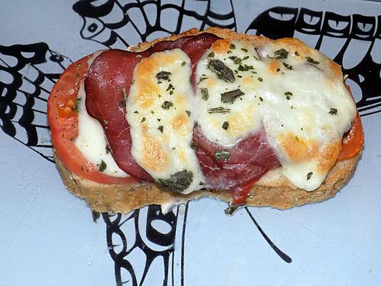 recette Bruschetta bacon tomate