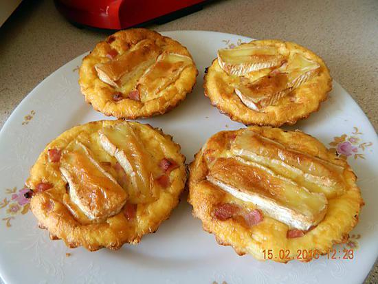 recette de quichettes aux camembert