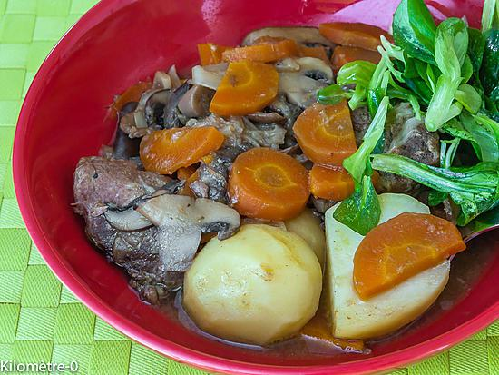 recette Mijoté de joues de porc aux champignons et carottes