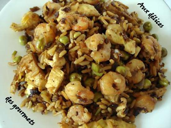 recette riz cantonais aux crevettes