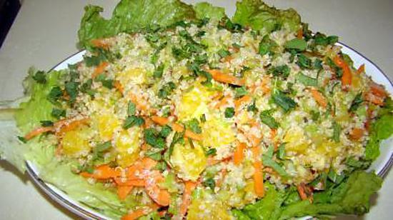 recette Salade d'oranges et de quinoa à la menthe