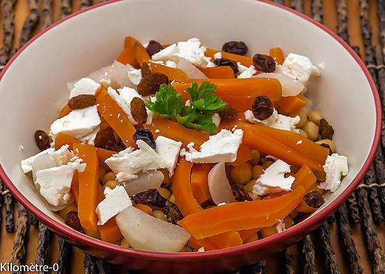 Recette de salade de pois chiches aux l gumes d 39 hiver et - Variete de salade d hiver ...
