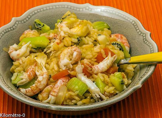 recette Risotto langoustines et kiwis