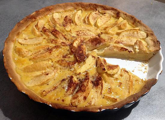 recette de tarte aux pommes alsacienne par marit 39 chou. Black Bedroom Furniture Sets. Home Design Ideas