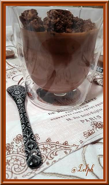 recette Panna Cotta au Chocolat et son Streusel au cacao