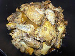 recette Poulet au raifort et mélange forestier (compatible dukan)