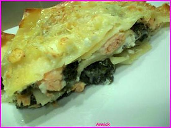 recette lasagnes épinards & 2 saumons