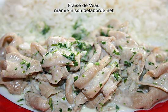 recette Fraise de Veau à la Crème