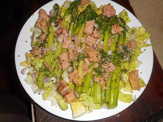 recette de salade d asperges vertes au thon. Black Bedroom Furniture Sets. Home Design Ideas