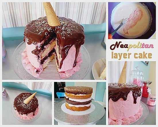 recette Neapolitan Layer Cake