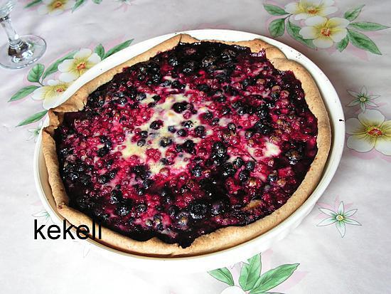 recette de tarte aux fruits rouges par kekeli. Black Bedroom Furniture Sets. Home Design Ideas