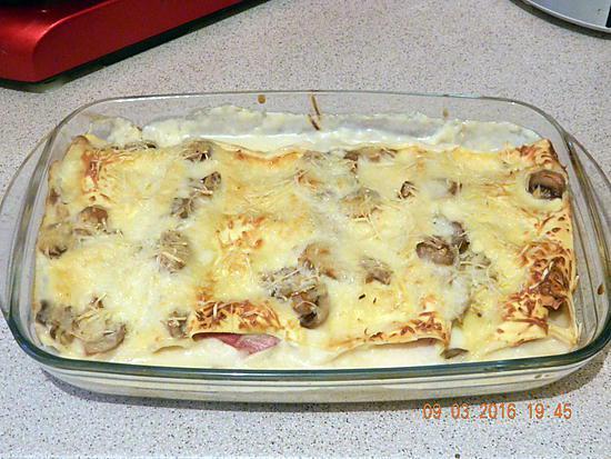 Recette de lasagnes roul es au jambon - Lasagne facile et rapide ...