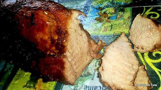 recette Filet mignon de porc caramélisé aux saveurs asiatiques