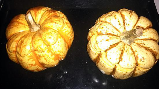 recette Mini Potimarron ou patidou farci avec oeuf cocotte