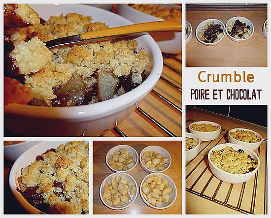 recette Crumble poire chocolat
