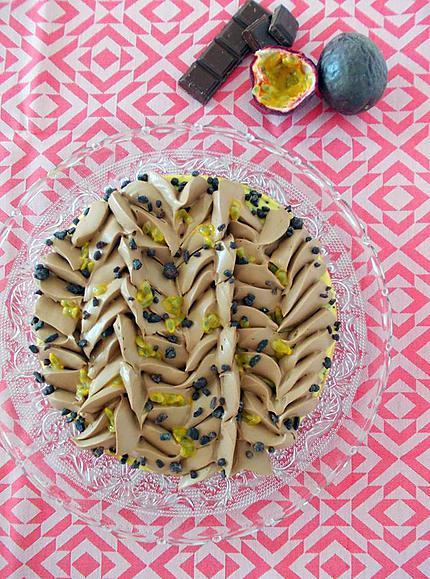 recette Tarte chocolat au lait passion de C. Marletti