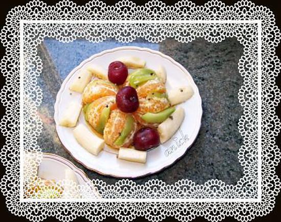 Gateau yaourt salade de fruit