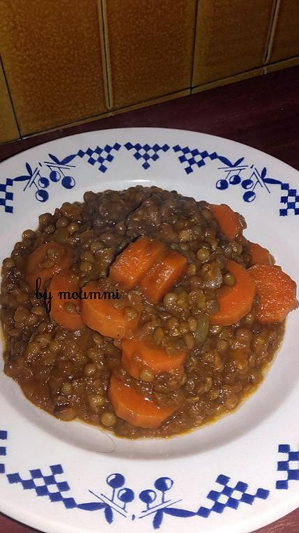 recette lentilles aux carottes