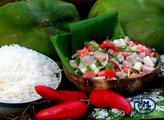 recette de poisson cru au lait de coco a la tahitienne. Black Bedroom Furniture Sets. Home Design Ideas