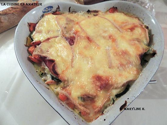 recette Gratin de légumes, coppa et raclette