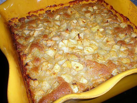 recette Gâteau aux poires et crème de marron