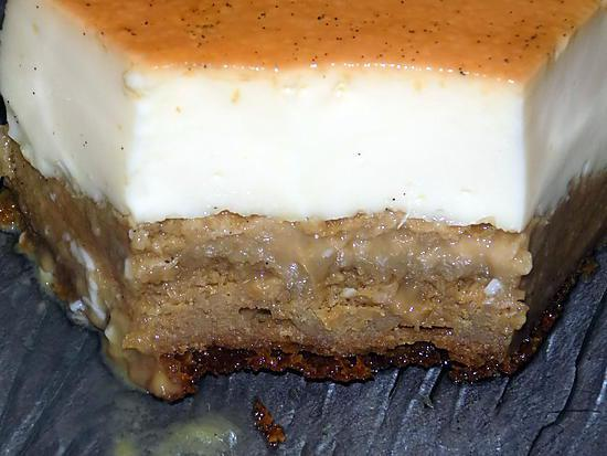 recette Gâteau impossible vanille/café dukan