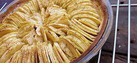 recette Tarte aux pommes sablée amande