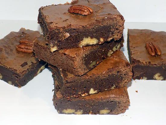 recette Brownies chocolat/noix de pécan et nougatine