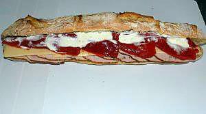 recette Sandwich rôti de porc/piquillos