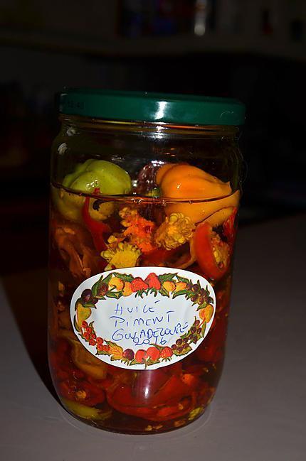 recette HUILE PIMENT ANTILLAIS