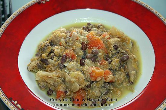 recette Curry de Chou & Haricots Azuki