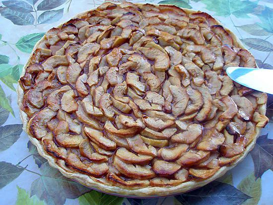 recette Tarte aux pommes et gelée de coing aux épices