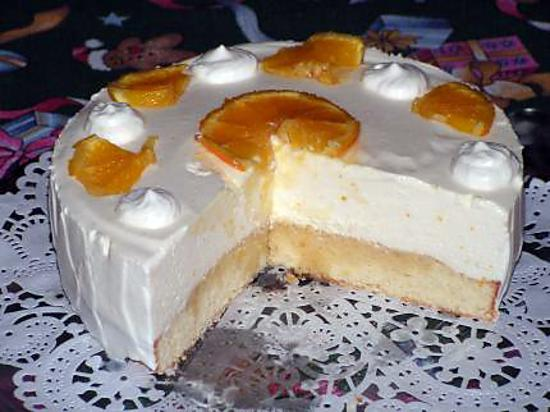 recette Biscuit mousse à l'orange