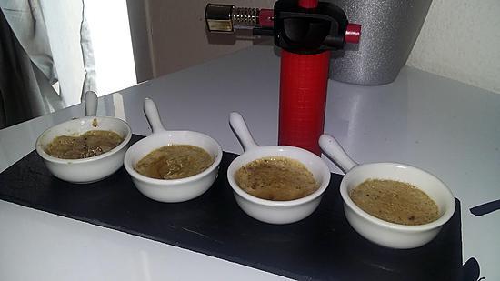 recette Crème brûlée au foie gras