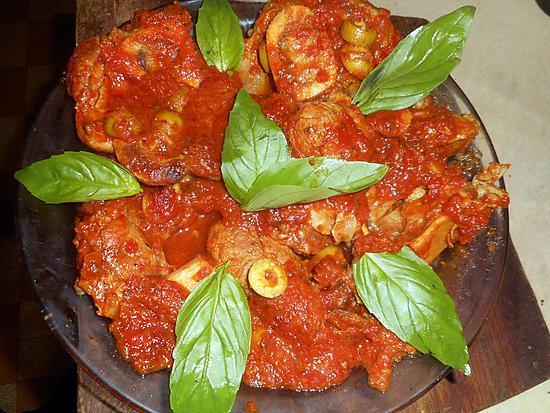 recette Osso bucco aux olives vertes
