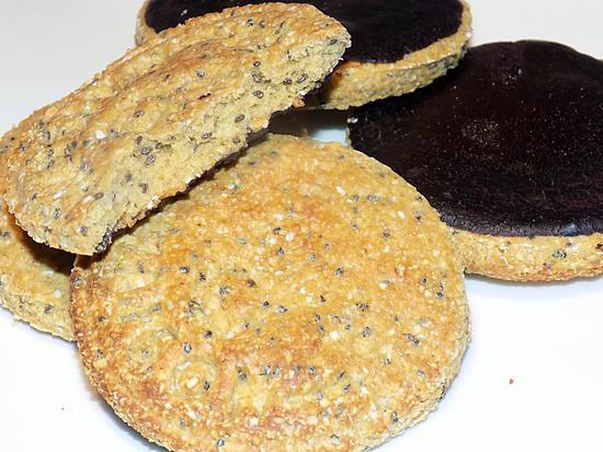 recette Biscuit aux graines de chia et chocolat dukan