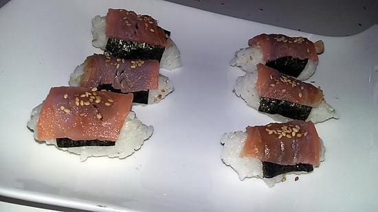 recette Sushis nigiri