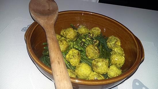 recette Haricots verts au boulettes a l'indienne