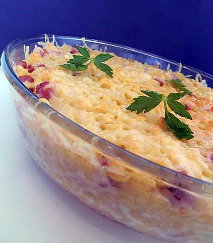 Les meilleures recettes de gratin coquillettes jambon - Cuisiner un jambonneau ...