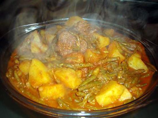 Tajine d 39 haricots vert marqua ma cuisine a dine - Recette de cuisine facile et rapide algerien ...