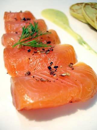 recette Gravlax de saumon