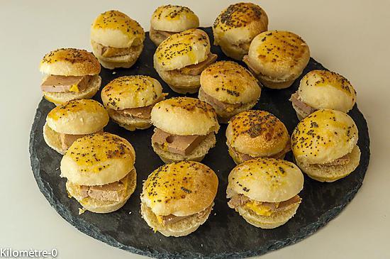 recette de minis hamburgers au foie gras. Black Bedroom Furniture Sets. Home Design Ideas