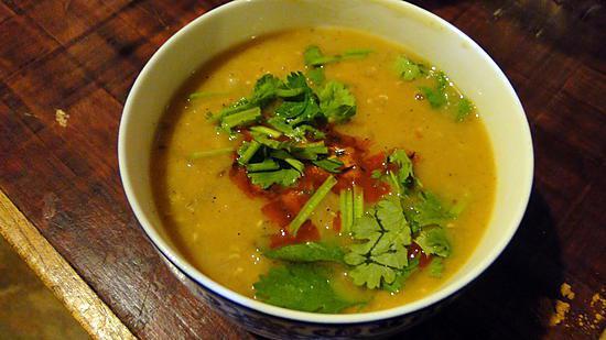recette Soupe aux lentilles corail aux épices nord-africaines