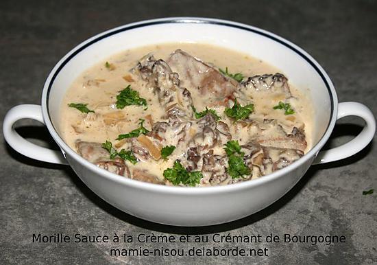 recette Morilles à la Crème & au Crémant de Bourgogne