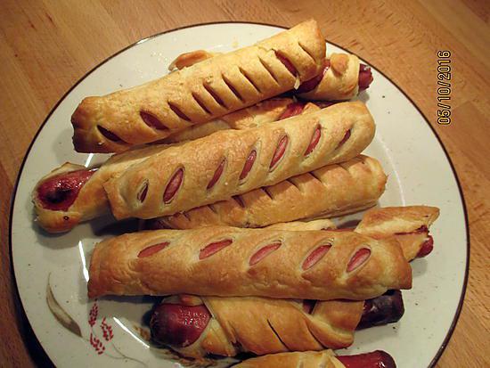 Recette de saucisses feuillet s - Cuisiner des saucisses fumees ...