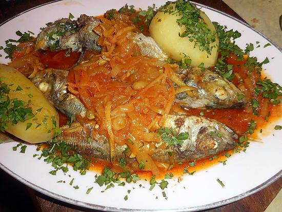 recette chinchards a la portugaise