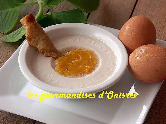 recette Blanc-manger œuf au plat