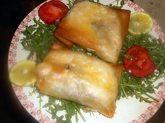 Recette de darne de saumon en feuille de brick - Cuisiner feuille de brick ...